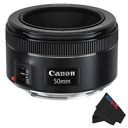 Canon EF 50mm f/1.8 STM Lens + Pixibytes Exclusive Microfiber Cleaning...