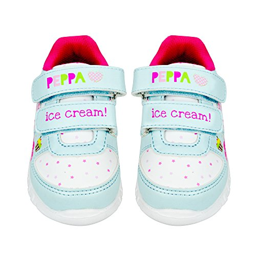 Peppa Pig Girls Sneakers with Flashing Lights (5 M US Toddler, Pink) (Toddler Shoes Peppa Pig)