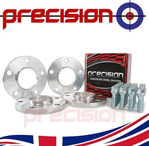 E28 E60 Bolts for ƁMW M5 Alloy Wheels E12 Precision 12mm Hubcentric Spacers 2 Pairs E61 PN.SFP-4PHS3+20BM1740119 E34