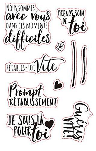 Fran/çais mots///Transparent Tampons De Silicone Transparents pour DIY Scrapbooking//Fabrication De Cartes//Enfants De No/ël Amusant D/écoration Fournitures A1009