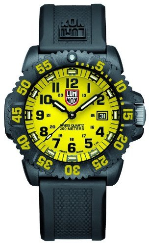 Luminox Navy Seal Colormark Yellow Dial Black Polyurethane Mens Watch 3055.LM