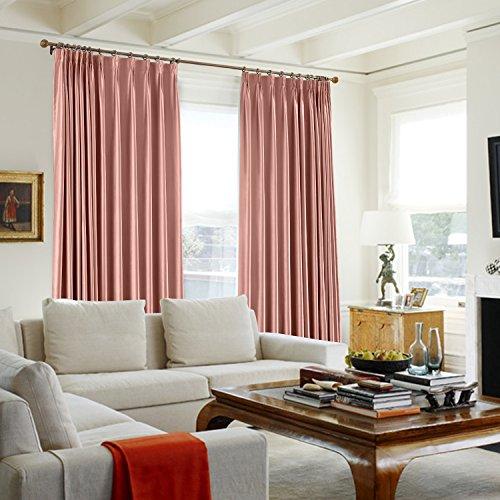 TWOPAGES 100 W X 102 L Pinch Pleat Faux Silk Curtains