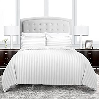 Amazon Com Beckham Hotel Collection Dobby Striped Duvet