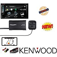 Kenwood eXcelon DDX395 6.2 In-Dash Double Din CD/DVD/MP3 Receiver, Cache Night Vision License Plate Camera W/ SiriusXM SXV300v1 Satellite Radio Connect Vehicle Tuner Kit for Satellite Radio