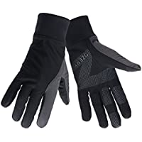 OZERO Touch Screen Gloves for Women, Cold Weather Windproof Thermal Glove for Smartphone Texting - Non-Slip Silicone Gel and Hand Warmers for Womens' Cycling and Running