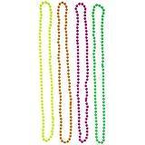 Set of 4 Multicolour Neon Fluorescent 80's Rave Bead Necklaces
