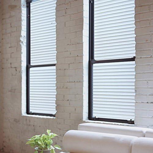 Etiqueta engomada de la ventana oculta,Etiqueta engomada electrostática vidrio para oficinas rayas puerta corrediza de vidrio engomada y engomada transparente ventana aislante opaco de la ventana-B 45x100cm(18x39inch): Amazon.es: Hogar