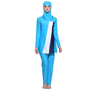 ac8ad1eb46 Lazy Cat Muslim Swimwear For Women Islamic Hijab Modest Swimsuit Burkini  (Asia S--