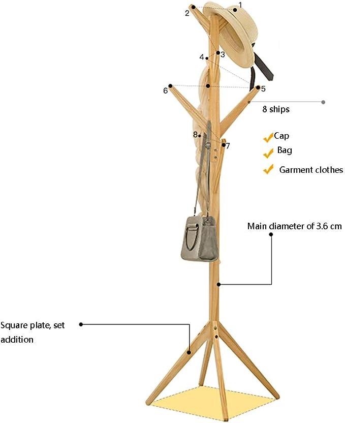 Multifuncional JIAYING Percheros Soporte de Madera en Forma de /árbol con Forma de /árbol de bamb/ú con 4 gradas Color : Brown 8 Ganchos y pies s/ólidos para la Ropa Bufandas y Sombreros