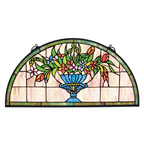 Stained Glass Panel - Titchfield Abbey Demi-Lune Stained Glass Window Hangings - Window Treatments -
