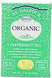 ST. DALFOUR Organic Tea, Tea Bags, Peppermint, 25 Count Bag