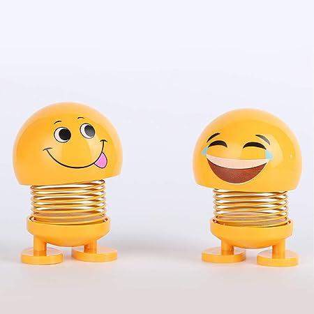 Delleu Juguete Lindo Emoji Sacudiendo la Cabeza de la Mu/ñeca de la Tabla Adorno de Coche Adornos del Tablero de Muelles Baile Juguete Juguetes Divertidos
