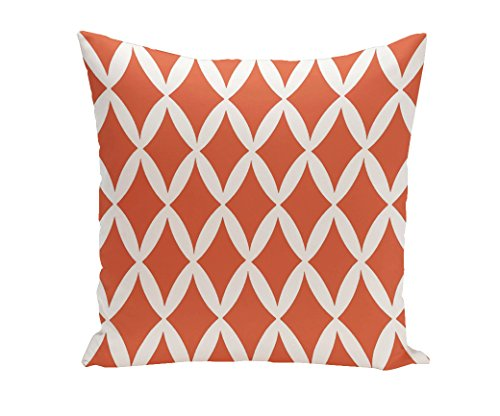 Ebydesign - Almohada decorativa geométrica, PG-N1, Celosia Naranja, 1
