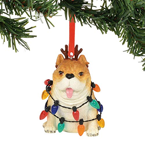 - Department 56 Gary Patterson Bulldog in Lights Christmas Hanging Ornament, 2.75