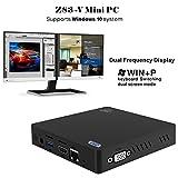 Z83-V Mini PC Intel Atom x5-Z8350 Processor (up to 1.92 GHz) Intel HD Graphics 400, 2GB /32GB 1000Mbps LAN Dual-Band WiFi [Dual Output - VGA&HDMI] [Support Windows 10 System]