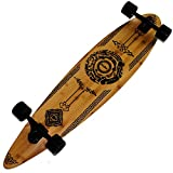 Rimable Bamboo Pintail Longboard (41 Inch, Auspicious Clouds)