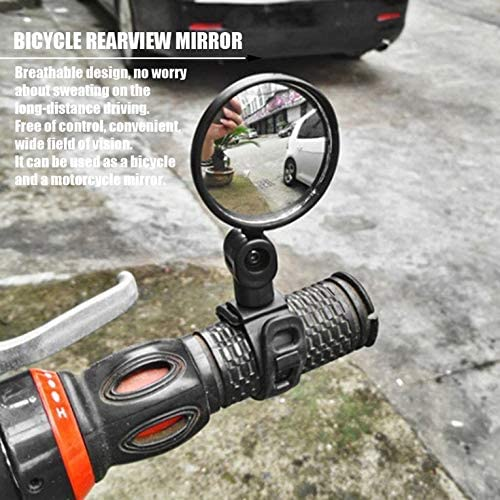 Appearanice Small Round Rearview Mirror For Mountain Bike and Silicone Handle