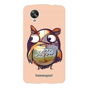 HomeSoGood Painted Owl Orange 3D Mobile Case For LG Nexus 5 (Back Cover)