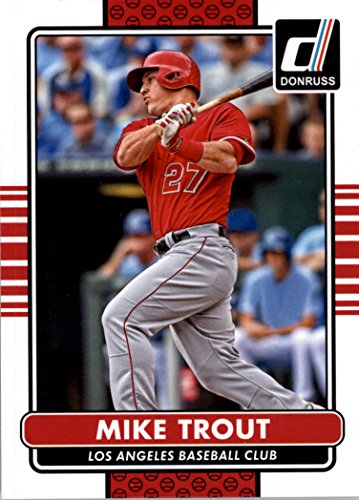 Mike Trout (5) Assorted Baseball Cards Bundle Los Angeles Angels of Anaheim Trading Cards