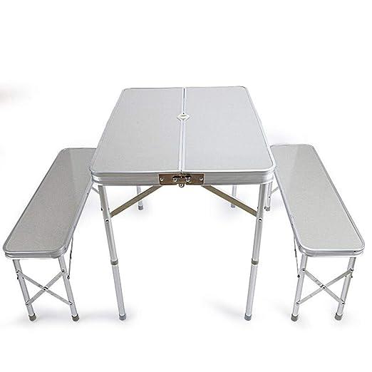 RFJJAL Mesa y sillas Plegables al Aire Libre Mesa de Mesa de ...