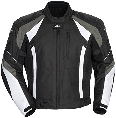 White And Black Motorcycle Jacket - 4