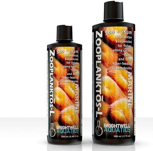 Brightwell Aquatics Zooplanktos L - Liquid Zooplankton Food Suspension for Fishes, Stony Corals, Clams, and Other Filter Feeders