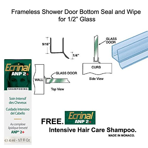 Clear Shower Door Dual Durometer PVC Seal and Wipe for 1/2
