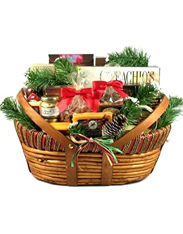Holiday Meat and Cheese Gift Basket with Wisconsin Sausages and Cheeses for Christmas (Large)