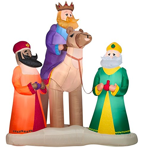 Kings Christmas Costumes 3 (12 ft. Inflatable Plush Three Kings)