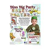 ScrapSMART - Dino Dig Party Kit - Jpeg, PDF, and Microsoft Word Files (CDDDP166)