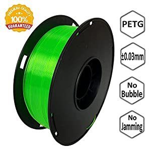 NovaMaker 3D Printer filament - Green 1.75mm PETG Filament, PETG 1kg(2.2lbs), Dimensional Accuracy +/- 0.03mm by NovaMaker