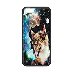 """DIY Galaxy Hipster Cat Plastic Case for iPhone 6 pluS 5.5"""", Custom Galaxy Hipster Cat Iphone6 5.5"""" Shell Case, Personalized Galaxy Hipster Cat Plus 5.5"""" Cover Case"""
