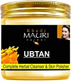 Khadi Mauri Herbal Ubtan Face Pack - Skin Lightening & Tan Removal - Ancient Ayurvedic Healing - Enriched with Turmeric - 200 g