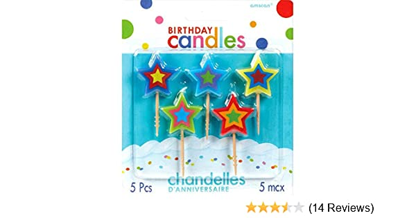 #3 Decorative Pick Candles 7 3ct 7 3ct 175205 Party Supplies Amscan Birthday Celebration Multicolor