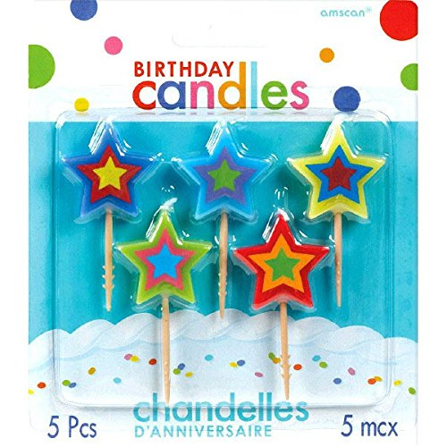 ars Birthday Toothpick Candles, Pack of 5, Multi , 2.75