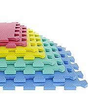 TG 80-32321 8 Piece Multi-Color Eva Foam Exercise Mat (Medium)