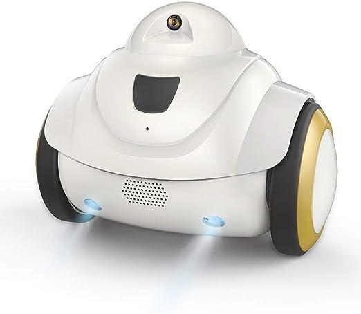 Decdeal 720P Cámara para Perros WiFi Seguridad para Hogar Monitor para Mascotas Recargable USB Robot Interactivo Inteligente para Gatos: Amazon.es: Hogar
