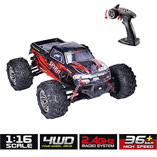 Durable Remote Control Car RC Truck Chargeable RC Car 4WD 1/16 RC Monster Truck 2.4Ghz High Speed 36 km/h for All Adults & Kids