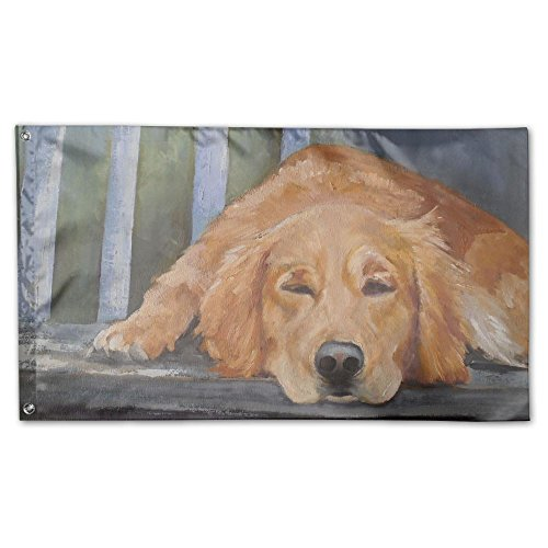 QIZHI Golden Retriever Vivid Yard Garden Flags Family Party