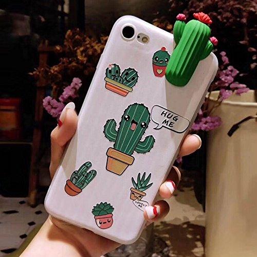 Fundas Carcasa Teléfono móvil Para iPhone 8 y 7, Moda Papa Plant Cactus Patrón Funda protectora...