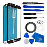 samsung note ii replacement glass - MMOBIEL Front Glass for Samsung Galaxy NOTE 2 N7100 N7105 i605 T889 i317 (Black) Display Touchscreen incl 12 pcs Tool Kit / Pre-cut Sticker / Tweezers/ Adhesive Tape / Suction Cup / cleaning cloth