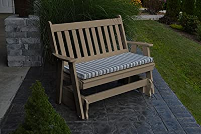 A & L Furniture Poly Traditional English Glider Bench-P871