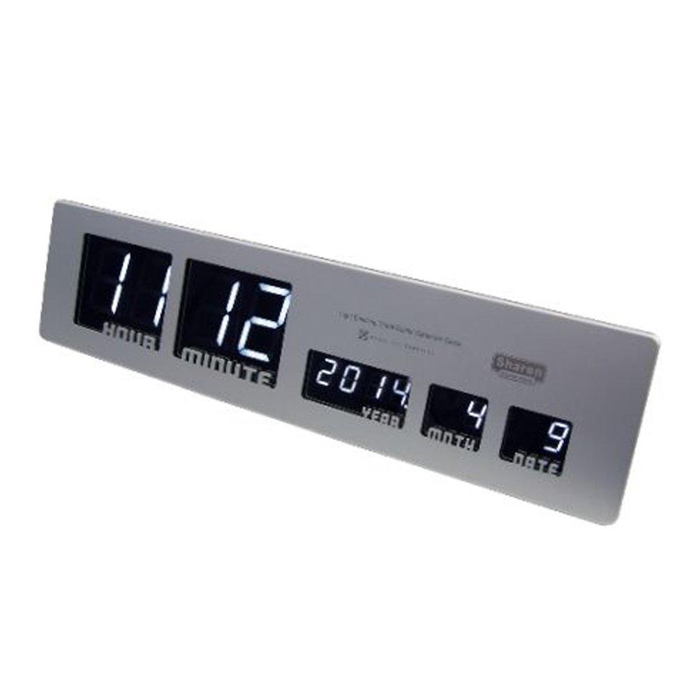 HOUSE USE PRODUCTS LED時計 Sharon シルバー ACL083 B00L7I1SWSシルバー