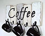 Kitchen Décor by Out Back Craft Shack: Coffee Cup Holder - Farmhouse Kitchen Storage for Coffee Mugs