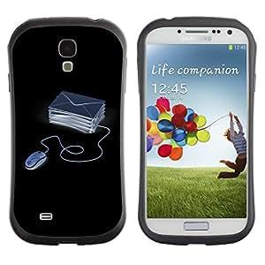 Fuerte Suave TPU GEL Caso Carcasa de Protección Funda para Samsung Galaxy S4 I9500 / Business Style Funny Computer Emails
