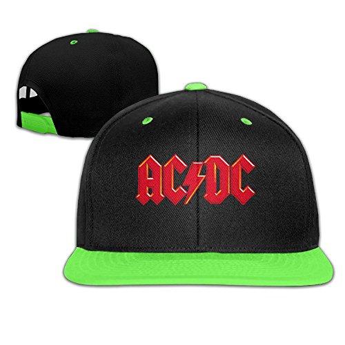 sunny-fish6hh-unisex-adjustable-ac-dc-logo-hiphop-baseball-caps-hat-for-kids-teenager-kellygreen