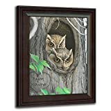Owls - Whoo's in Love - Personalized Romantic Wildlife and Animal Framed Prints for anniversaries, weddings, Valentine's, and Christmas!