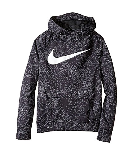 NIKE Therma Boys Printed Training Fleece Hoodie Pullover (l) by Nike