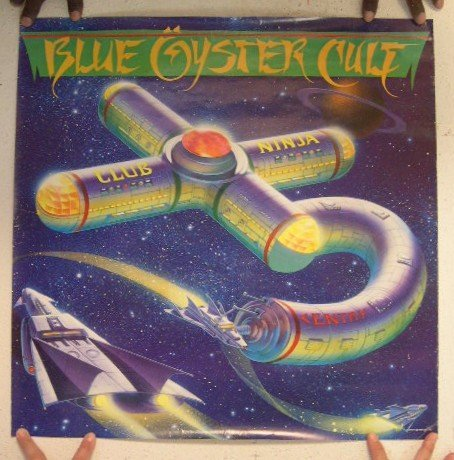 Blue Oyster Cult Poster Club Ninja B.O.C. BOC B O C (Blue Oyster Cult Pin compare prices)