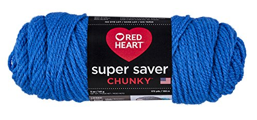 Red Heart Super Saver Chunky, Blue Yarn from Red Heart